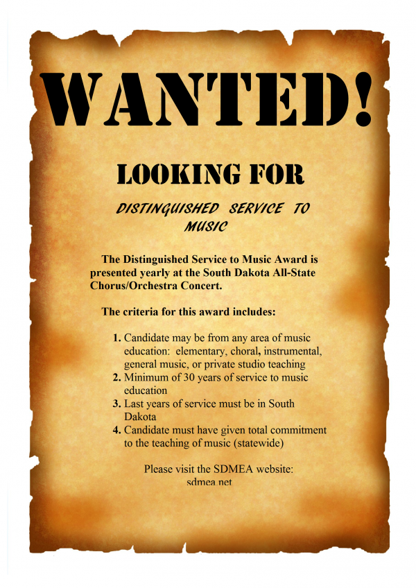 wanted poster Distinguished Service to Music.png